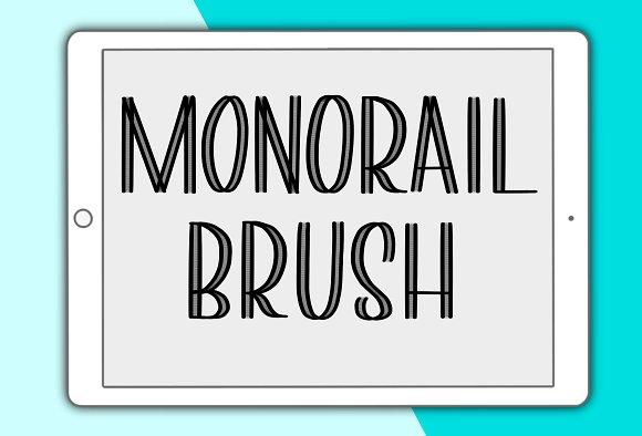 Monorail Procreate Lettering Brush