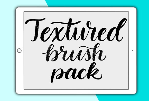 Textured Procreate Lettering Brushes