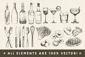 Rustic Menu Elements