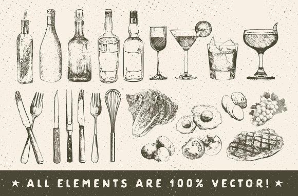 Rustic Menu Elements