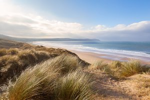Dunes at Woolacombe, Devon, UK