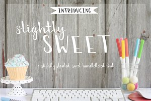 Slightly Sweet Hand Lettered Font