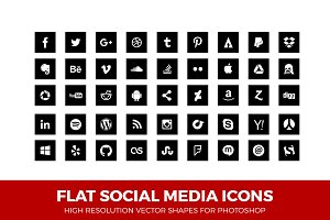 Simple Social Media Icons Square