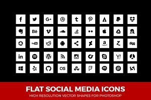 Simple Social Media Icons Square W