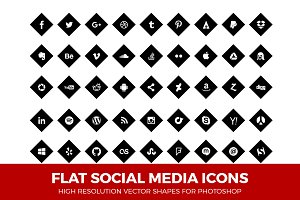Social Media Icons Diamond Black
