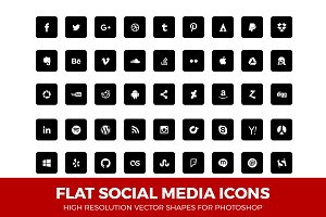 Social Media Icons Round Black