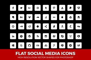 Social Media Icons Round White