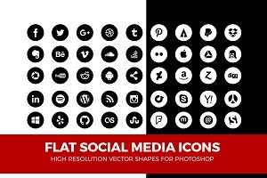 Simple Social Media Icons Circle Pck