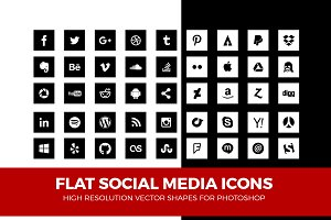 Simple Social Media Icons Square Pac