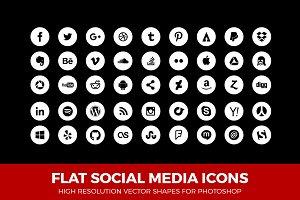 Simple Social Media Icons Circle W