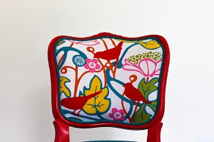 French Vintage Chair in Red