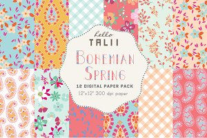 SPRING PICNIC Bohemian Patterns