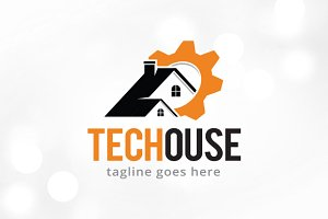 Tech House Logo Template