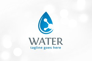 Water Logo Template Design