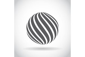 Set Abstract Swirl Sphere Globe