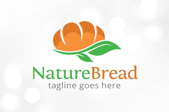 Nature Bread Logo Template Design
