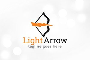Light Arrow Logo Template Design