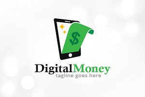 Digital Money Logo Template
