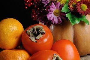 Persimmons, tangerines