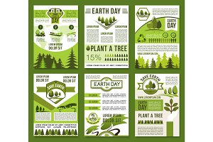 Earth Day and ecology conservation poster