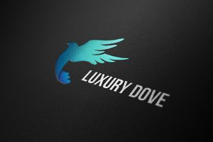 Dove Logo Luxury Flying Bird