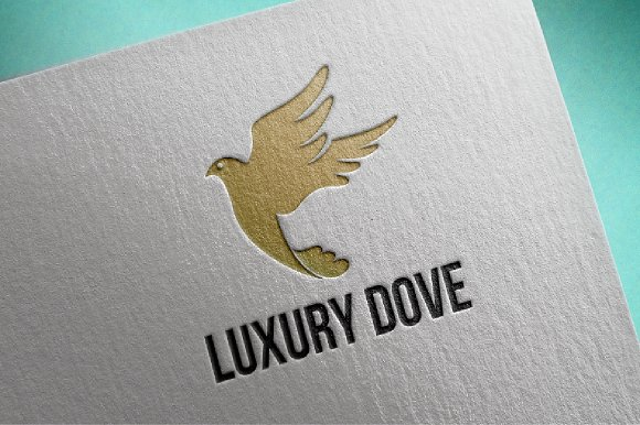 Dove Logo Luxury Flying Bird in Logo Templates - product preview 1