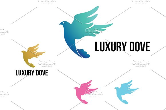 Dove Logo Luxury Flying Bird in Logo Templates - product preview 3