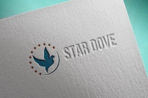 Dove Logo Flying with Star