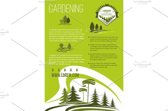 Vector Poster Of Landscape Or Gardening Company