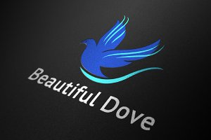 Dove Bird Logo Beautiful Fly Wings