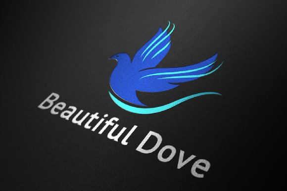 Dove Bird Logo Beautiful Fly Wings