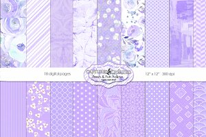 Fresh & Fun Violet 18 Paper Pack