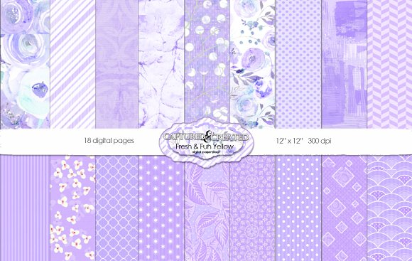 Fresh Fun Violet 18 Paper Pack
