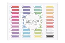 Basic Banners - Grosgrain Stitch