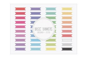 Basic Banners - Grosgrain Stitch
