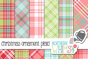 Pink, Red, Aqua & Mint Plaid