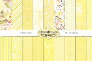 Fresh & Fun Yellow 18 Paper Pack