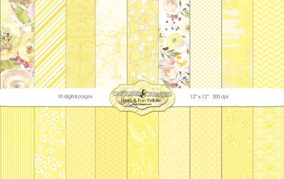 Fresh Fun Yellow 18 Paper Pack