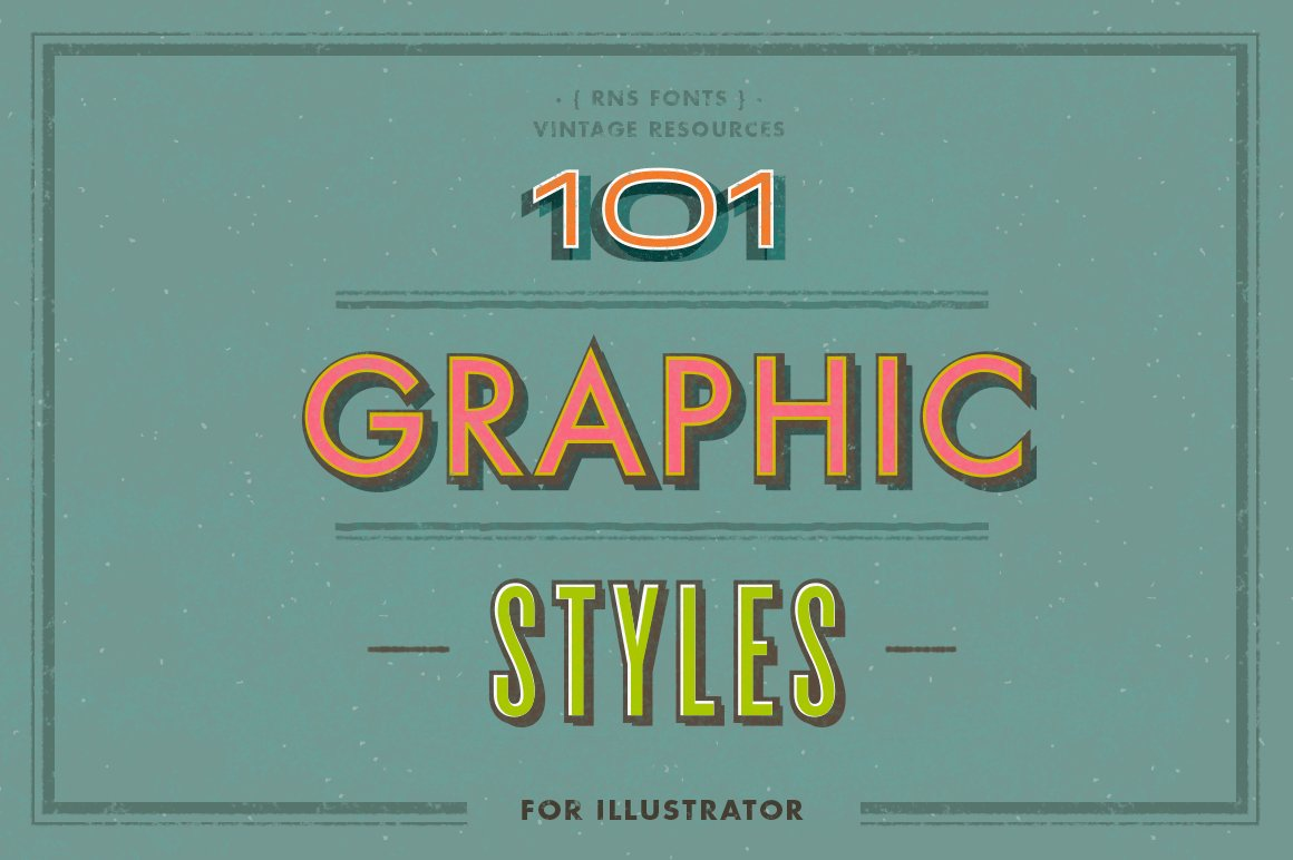 101 Graphic Styles For Ai Illustrator Add Ons Creative Market