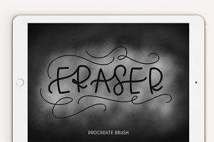 Lettering Eraser Procreate Brush