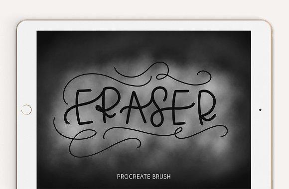 Lettering Eraser Procreate Brush