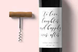 Wine Label - Editable PDF