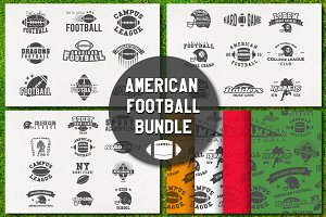 -50% American Football Labels Bundle