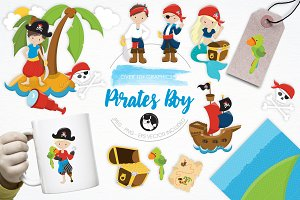 Pirates Boy illustration pack