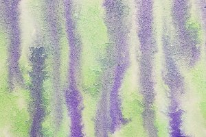 Green and purple abstract watercolor