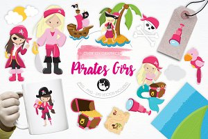 Pirates Girls illustration pack
