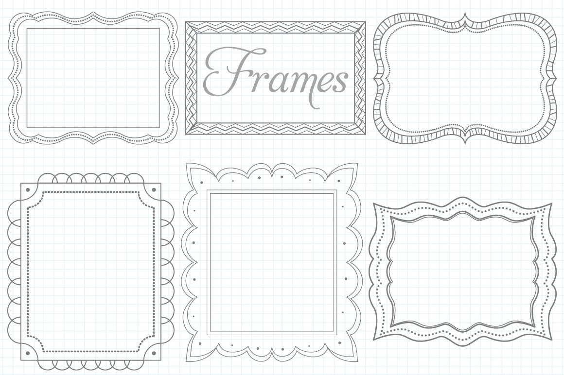 Vector Doodle Frames Set ~ Illustrations ~ Creative Market