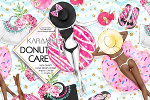 Donut Care Summer Clipart Donuts