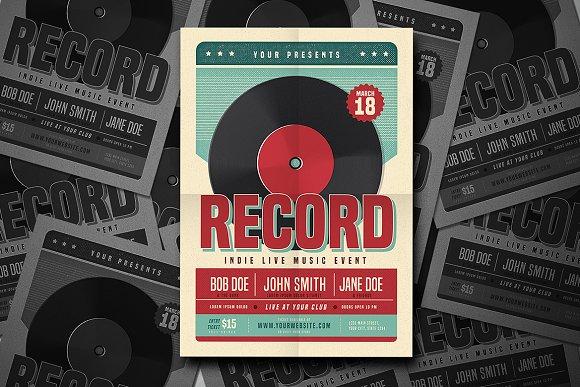Retro Vinyl Music Flyer