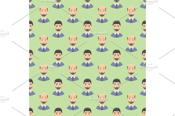 Hair Loss Stages Man Seamless Pattern And Types Of Baldness Illustrated On Male Head
